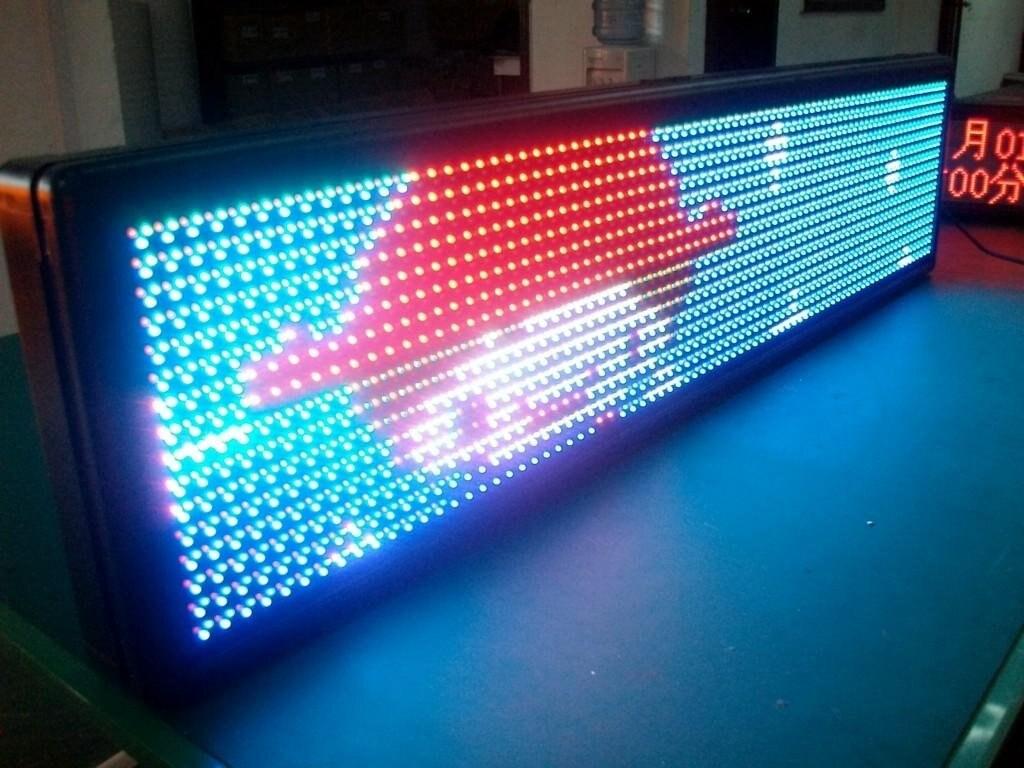 Экран из светодиодных лент своими руками 22