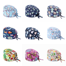 Cap Bandage Scrub-Hat Nurse-Cap Gorro Quirrgico Women Print Cotton Fashion Adjustable