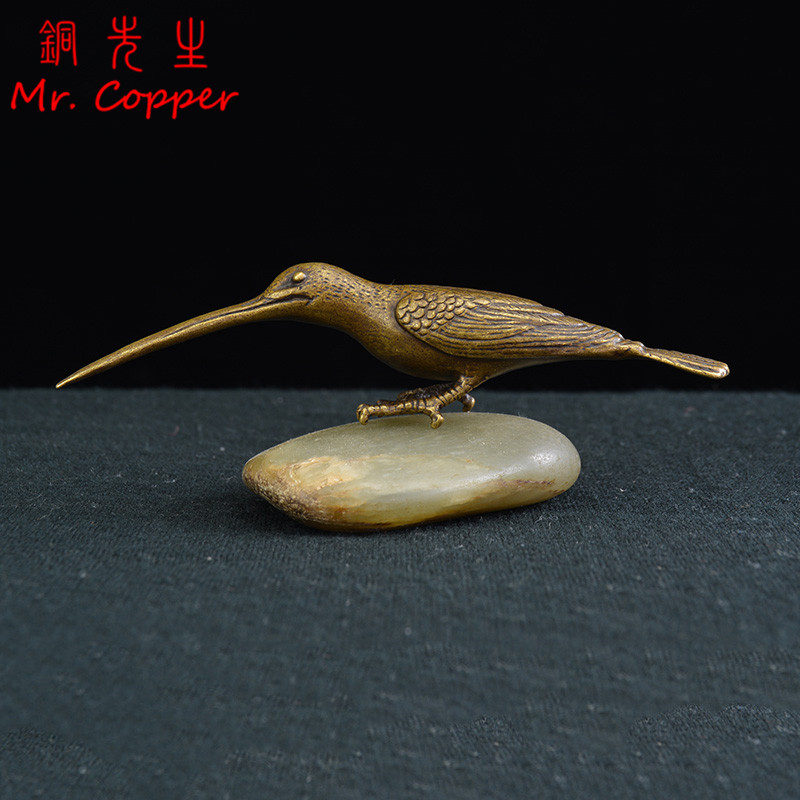 Collectible Chinese Old Copper Handwork Tea Pet Turtle Antique Ornament Statue