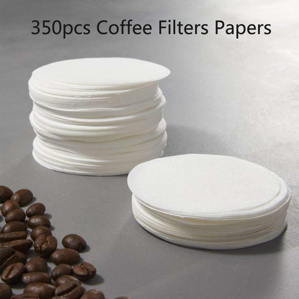 350pcs Ronda de Caf/é Filtros Los Coladores for Aeropress Cafetera NIMOA Papel de Filtro de Caf/é