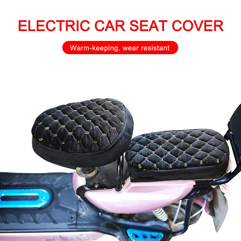 Seat-Cover Scooter Motorcycle Waterproof Electric for Car Plush Soft-Seat-Protector title=