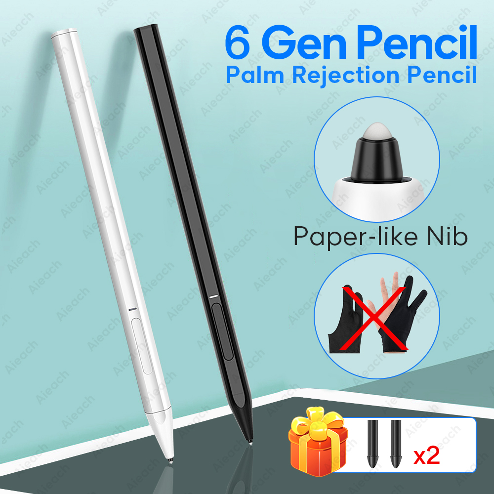Stylus-Pen Apple Pencil Palm-Rejection iPad Pro with for 1-2 Paper-Like-Nib 6th Gen 11 title=