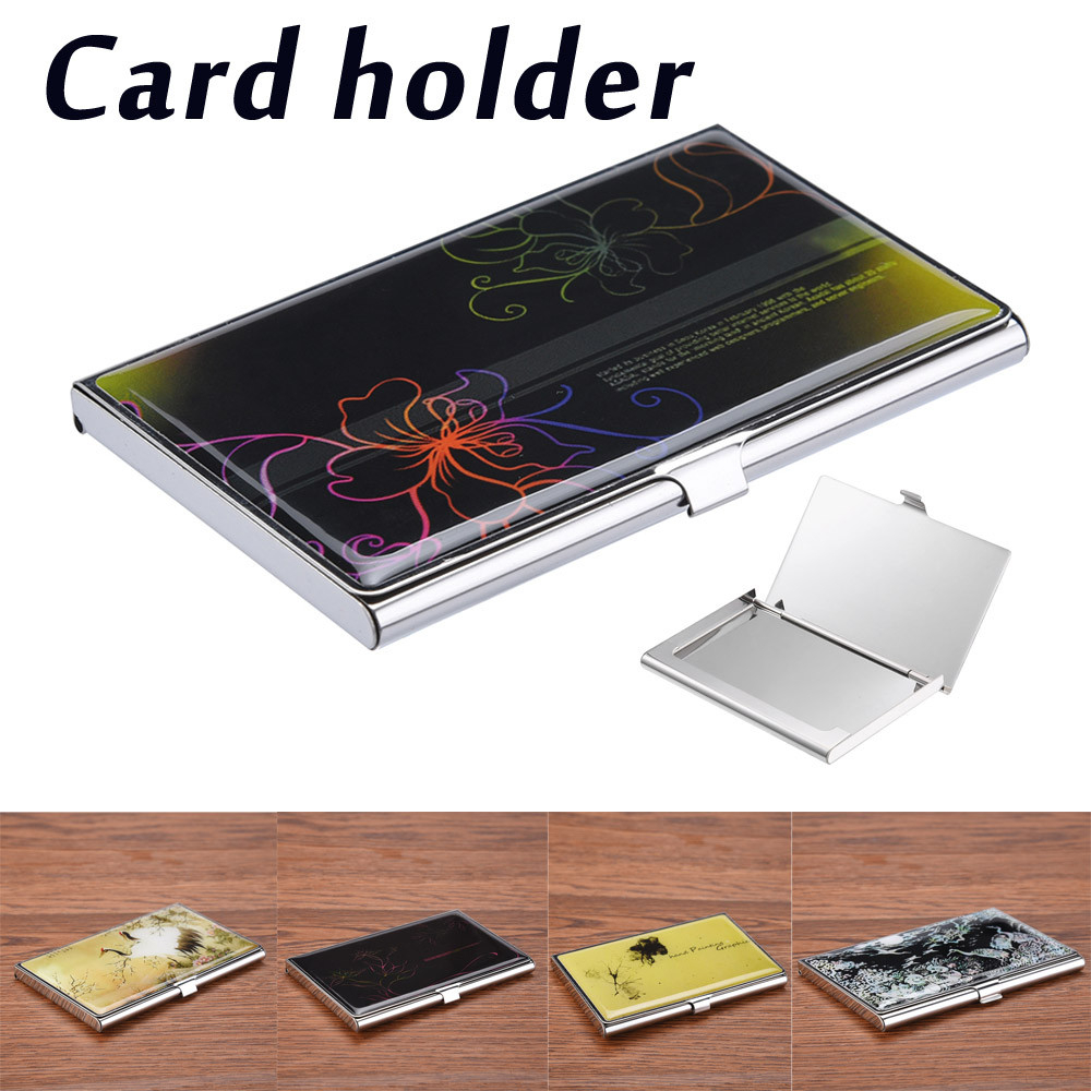 Casual Stainless Steel Card Holder Men ID Metal Cover Credit Business Card Women Passport Wallet Multicolor Storage Card Bag 823