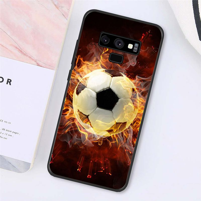 Football Soccer Ball on water burning fire sports