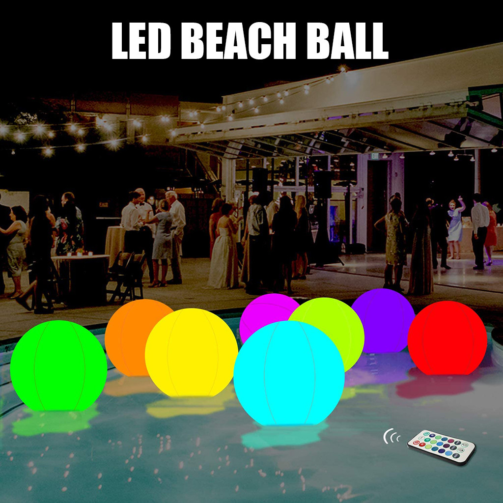 Human - Rechargeable LED Swimming Pool Floating Ball Lamp Waterproof Outdoor Home Wedding Garden KTV Bar Holiday Party Decoration
