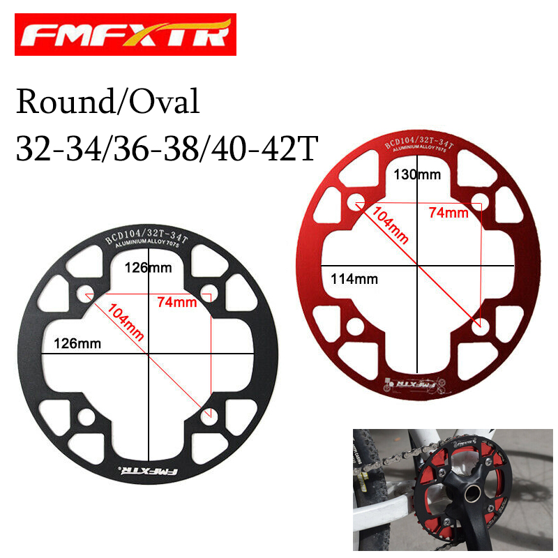 Chainring Bike 40T//42T Round Sprocket Bicycle For 104mm BCD Accessories