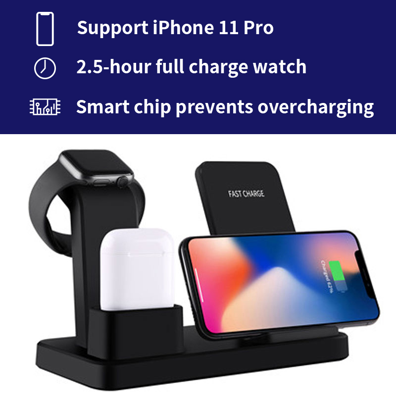 Charger Cradle Stand Phone-Holder Charging-Dock-Station-Bracket Qi-Dock Apple Watch Wireless title=