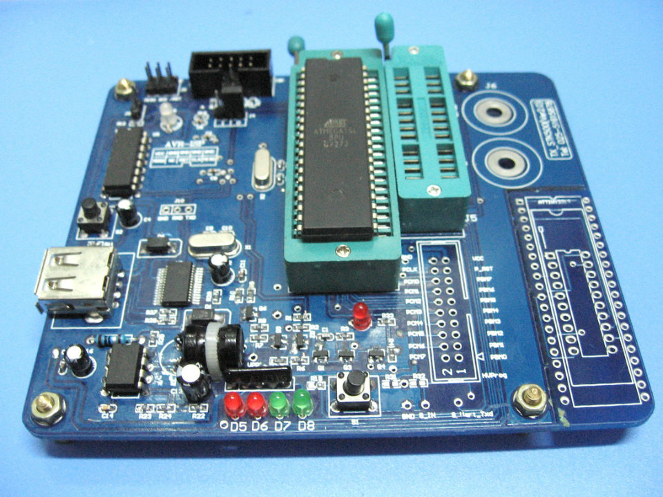 M16 parallel programmer STK500 AVR high voltage fuse USB interface AVR M8