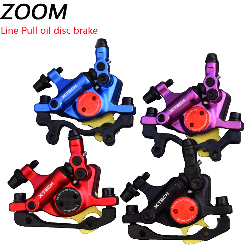 ZOOM Hydraulic Disc Brakes Calipers Mountain bike Front Rear Mechanical pull
