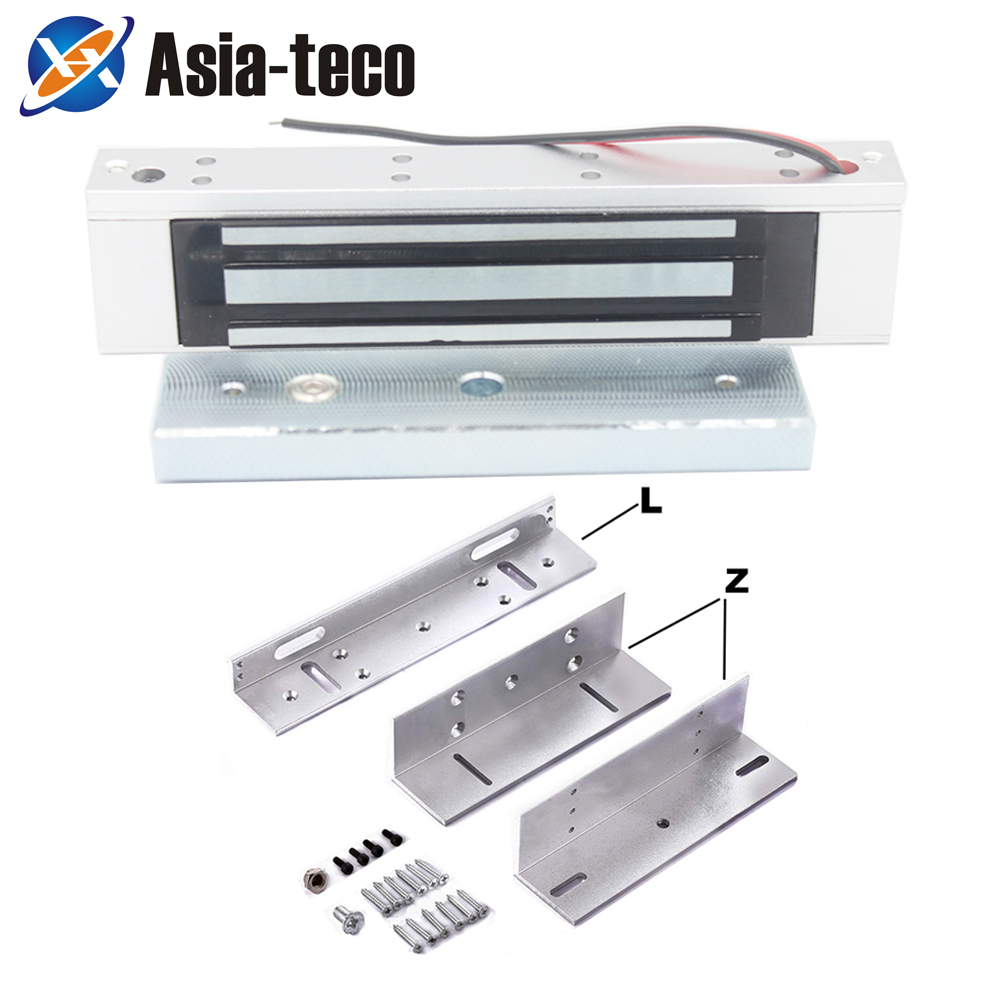 Magnetic-Lock Single-Door 600lbs 280KG 12V DC with Zl-Bracket title=