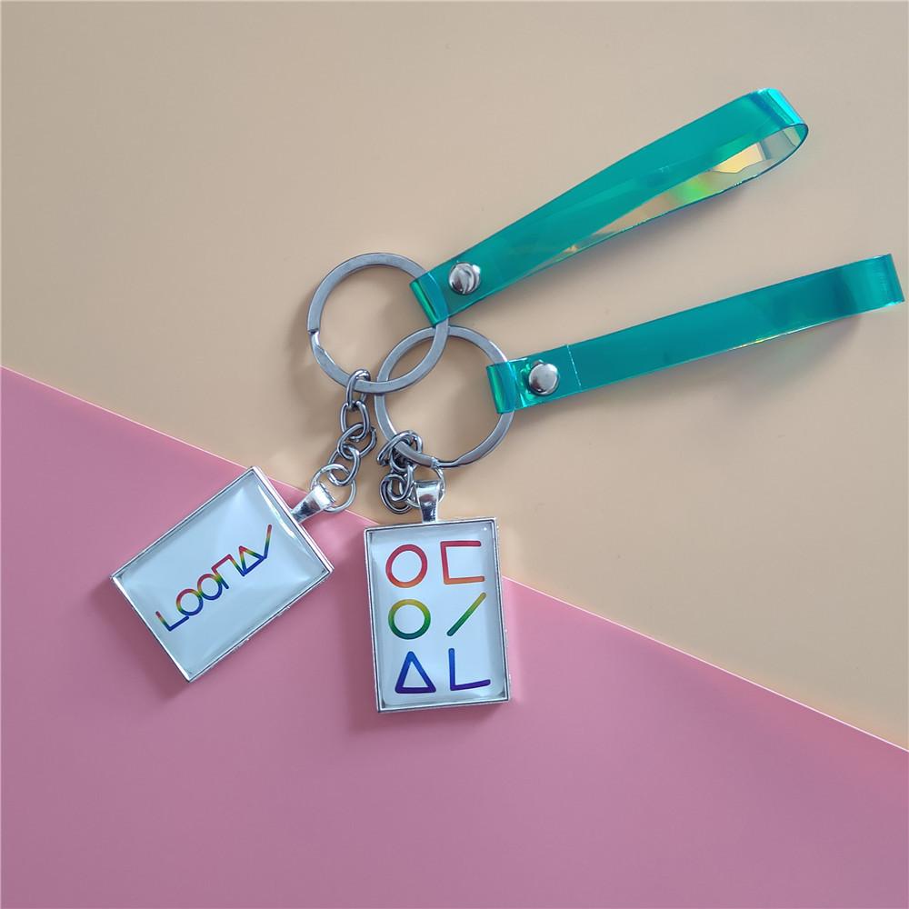 KPOP Loona Name Keychain Laser Lanyard Phone Strap Bag Charm Hee Jin Key Holder