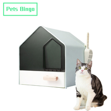 Cats Toilet Cat-Litter-Box Pets Kitten Fully-Enclosed Bedpans Anti-Splash for 10kg Bingo-Drawer-Type