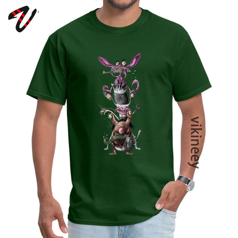 AHHH REAL Monsters Company Men T Shirt Round Neck Short Sleeve 100% Cotton Fabric Tops & Tees Casual Tops T Shirt AHHH REAL Monsters 2644 dark