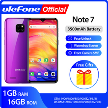 Ulefone Mt6580 Note-7 Smartphone 16GB Quad Core Iris Recognition 8mp New Android9.0 3500mah