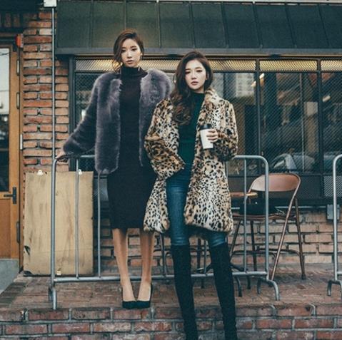 Leopard 2019 Winter Women's Faux Fur Coat Artificial Fur Overcoat Furry Jacket Femme Plus Size Furry Fake Fur Outwear Z288