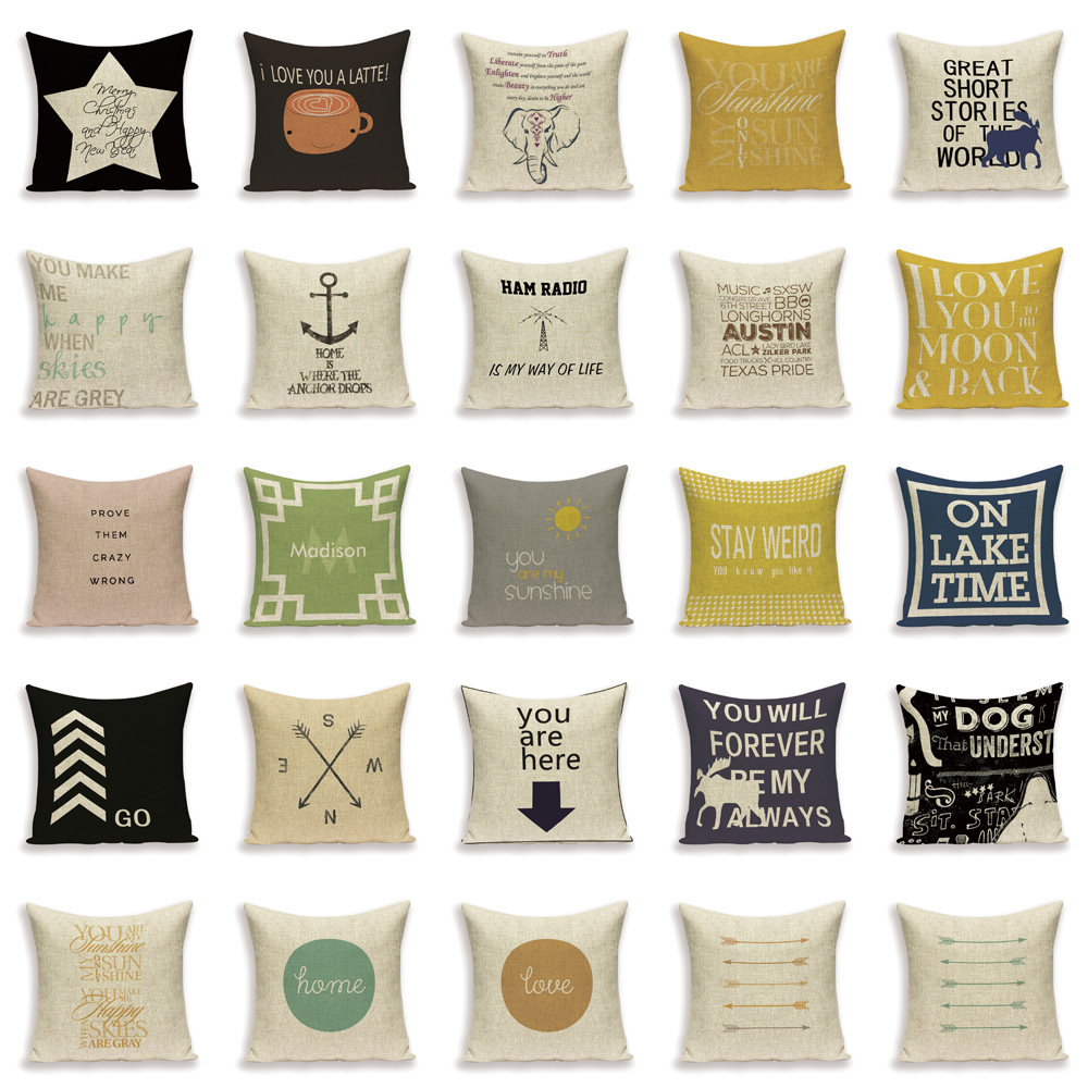 Home Décor Rectangle Arrow Printed Home Sofa Bed Car Throw Pillow Case Cushion Cover 9