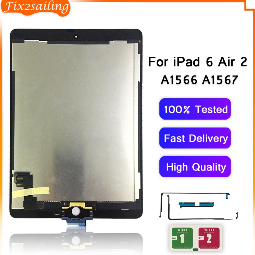 For iPad Air 2 A1566 White LCD Display Touch Screen Digitizer Panel Assembly