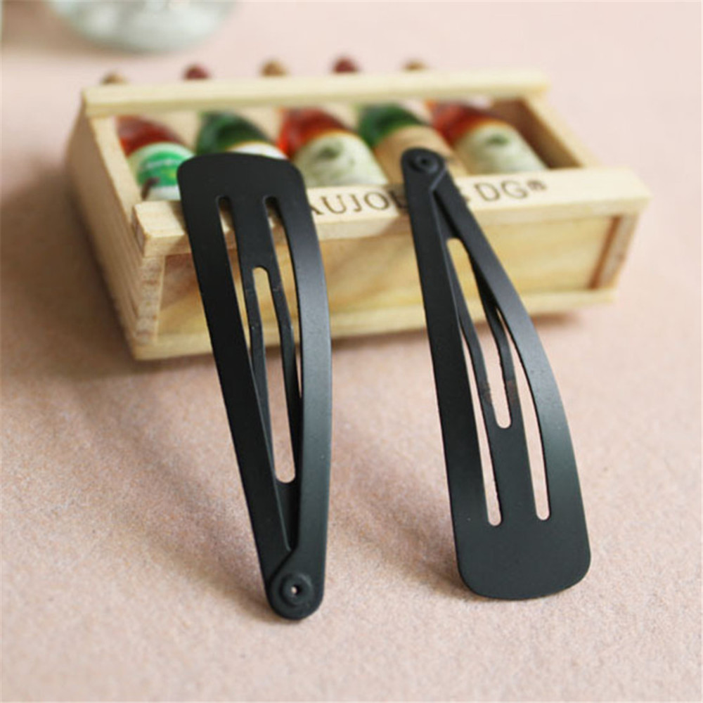 10Pcs/Pack Solid Black Color Hair Clips Girls Hairpins BB Clips Barrettes For Lady Girls Simple Practical Hair Accessories