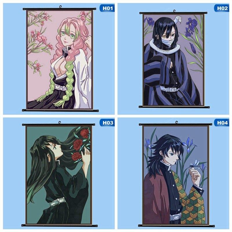 13 Colors Demon Slayer: Kimetsu No Yaiba Tanjirou Nezuko Anime Manga Wall Poster For Living Room Home Decoration