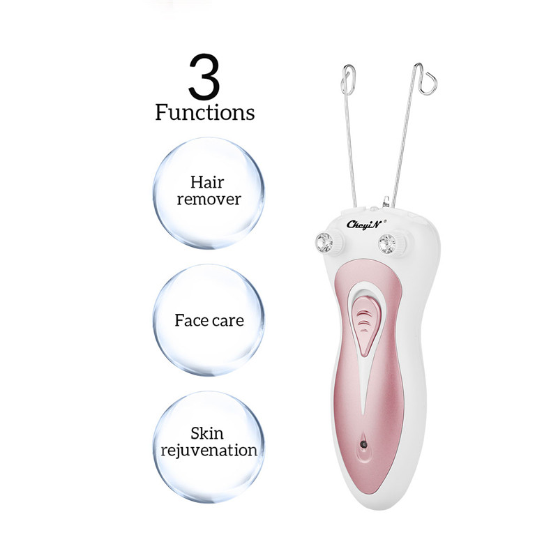 Professional Electric Epilator Body Facial Hair Remover Defeatherer Cotton Thread Depilator Shaver Lady Beauty Care Machine 45