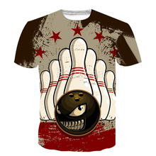 T-Shirt Sports-Bowling Hip-Hop-Style Fashion Full-Printing 3D Casual Popular Summer