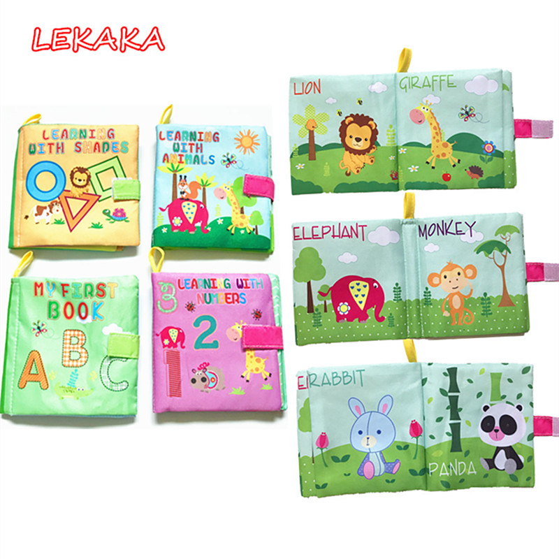 Baby Educational Books with Rustle Sound Soft Book for Infant Newborn to Hang
