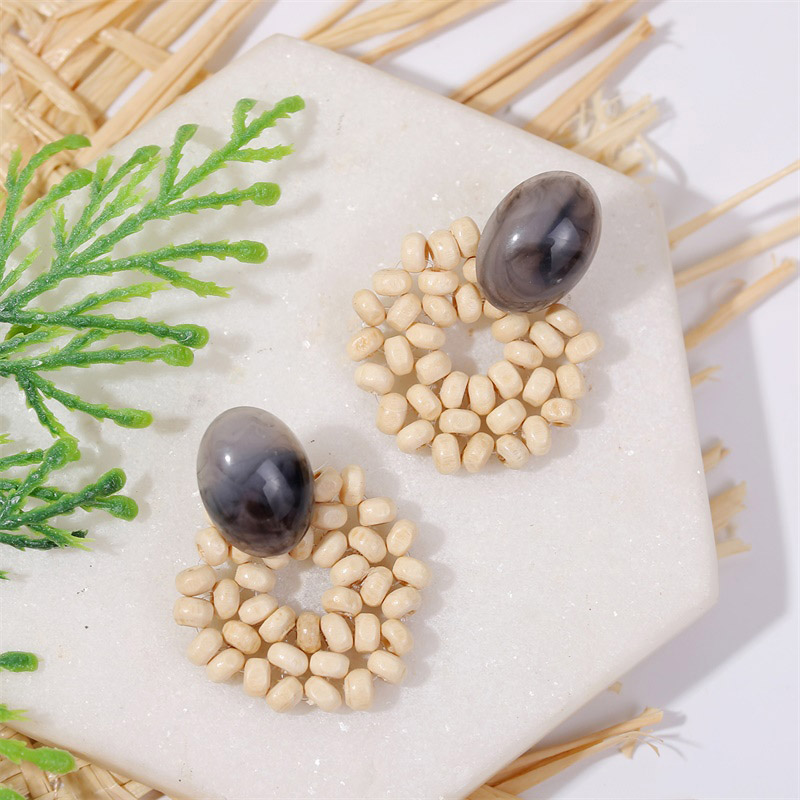 19 Fashion Boho Round Square Geometric Wooden Drop Earrings For Women Bohemian Vintage Wood Beaded Dangle Earring Jewelry Gift 28