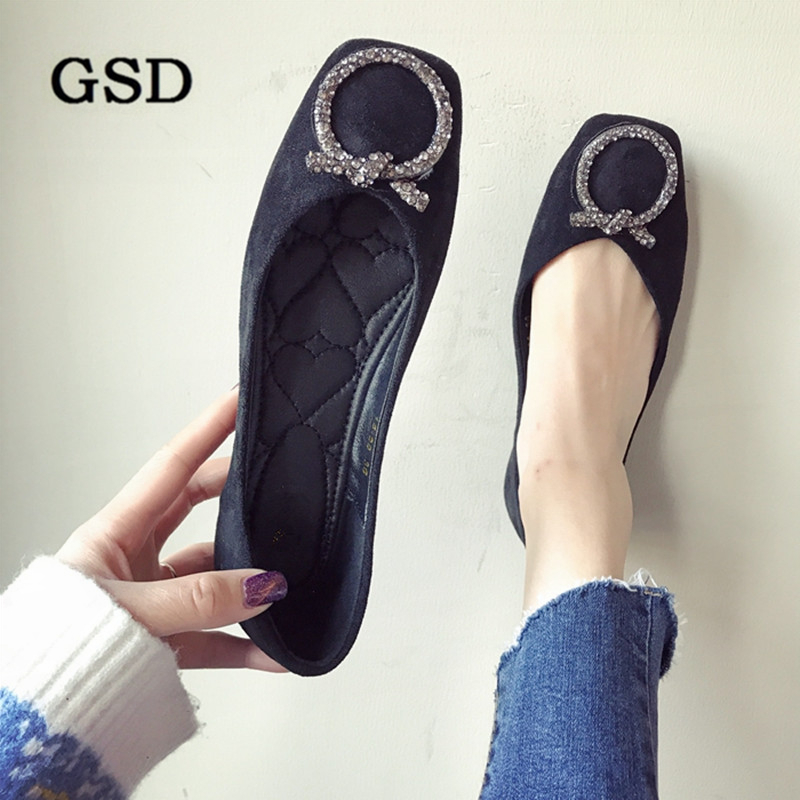 Summer Shoes Flats Spring Woman Loafers Candy-Color Autumn Plus-Size 35-42 Mujer Zapatos title=