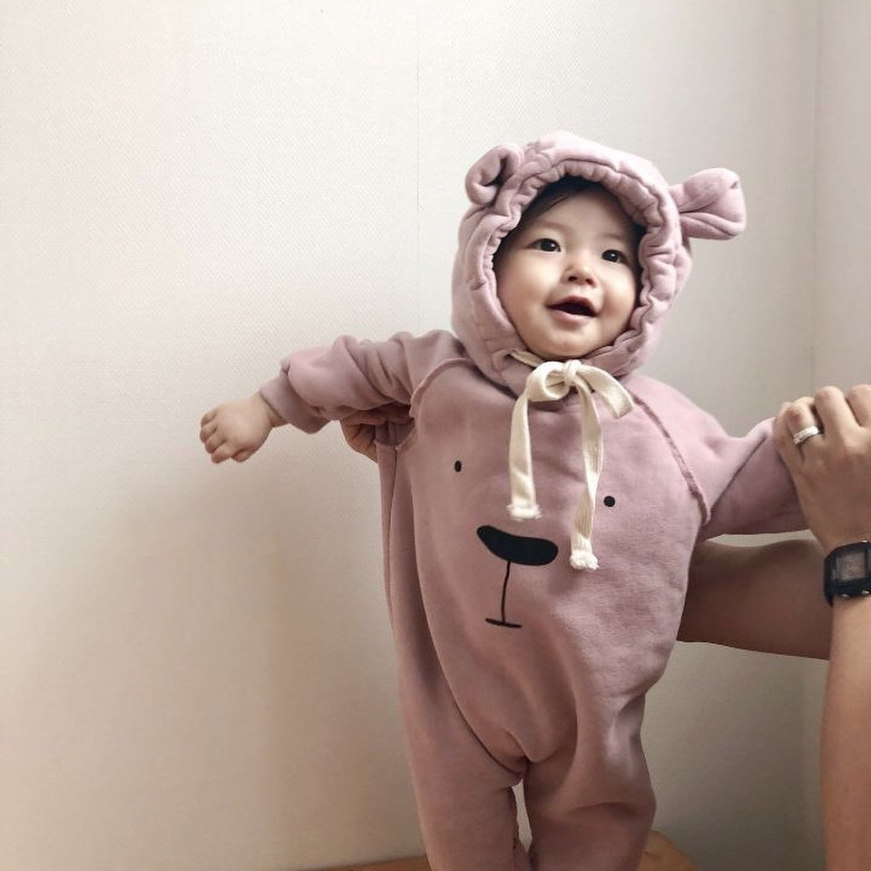 Infant Babys Long Sleeve Climb Jumpsuit NO Way Print Jumpsuit