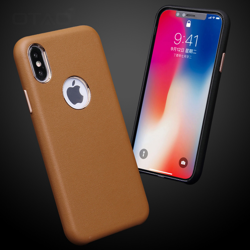 Leather Retro Case For iPhone X XS MAX XR 8 7 Plus 6 6s Velvet Case Logo Hole Case For iPhone 6Plus Slim Shock Cover Fundas