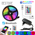 Bluetooth LED Strip Lights 20M RGB 5050 SMD Flexible Ribbon Waterproof RGB LED Light 5M 10M Tape Diode DC 12V Bluetooth Control