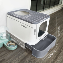 Drawer-Top Litter-Box Deodorant Cat Toilet Fully-Enclosed Cat-Supplies Cats Splash-Proof