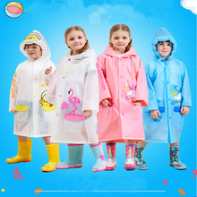 Rainwear Kids Girls Children Thicken Outdoor Waterproof Unicorn Cartoon for Boy Flamingo