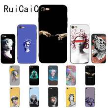 RuiCaiCa wave Art Japanese green Illust роскошный уникальный PhoneCase для iPhone 8 7 6 6S Plus X XS MAX 5 5S SE XR 11 11pro promax(China)