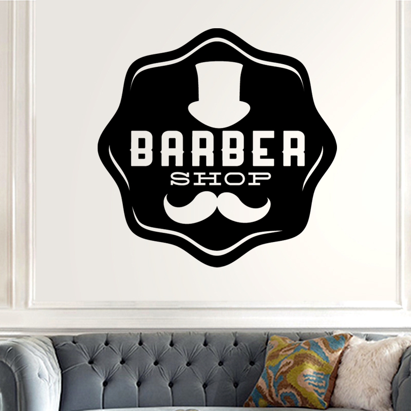 Barber Shop Sticker Chop Bread Decal Haircut Shavers Posters Vinyl Wall Art Decals Decor Windows Decoration Mural Mb0045