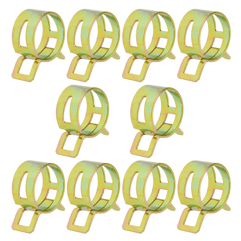 10Pcs 5-22mm Spring Clip Fuel Line Hose Water Pipe Air Tube Clamps Fastener