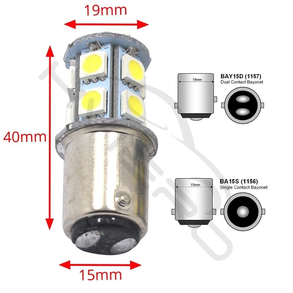 Hviero 1156 BA15S 1157 P21W white 5050 13smd Brake Rear Tail Lights Turning Parking Signal Lights Lamps Auto Rear Reverse Bulbs DC 12V