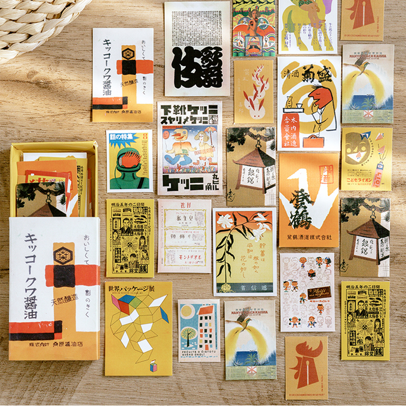 Journamm 60Pcs/box Japan Scrapbooking Original Deco Sticker Washi Paper Kids Creative Bullet Album Journal Stationery Stickers