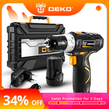 DEKO Power-Driver Battery Cordless-Drill Lithium-Ion Mini DC Wireless 2-Speed Max 12V