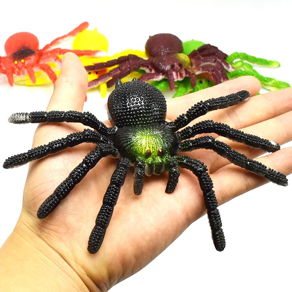 Realistic Spider Tarantula Fake//Prank//Halloween Black~Extra Lrg Sz  4.50 x 7.5