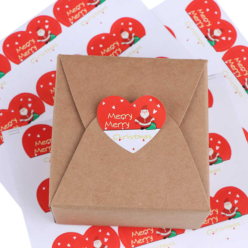90pcs/lot DIY Multifunction Seal Sticker Gift Lovely Snowman Heart  Label Gift Sticker Merry Christmas series