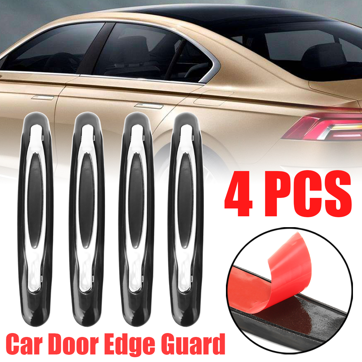 //////M Sporty Car Door Bumper Edge Scuff Scratch Accessories Trim Sticker For Audi