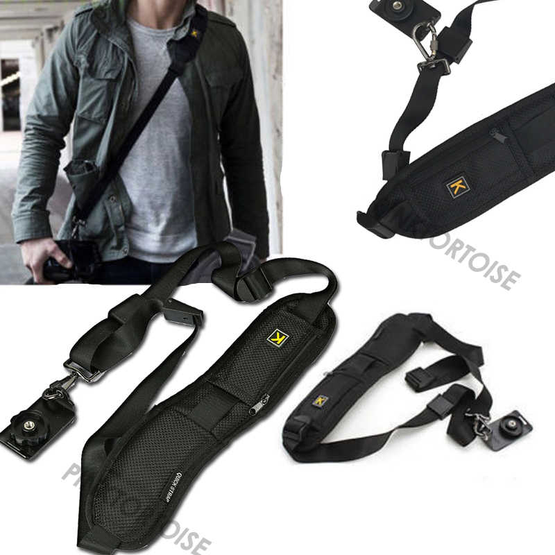 Portable Single Shoulder Sling Belt Strap for camera Quick Rapid Quick Adjustment for DSLR Digital SLR Camera