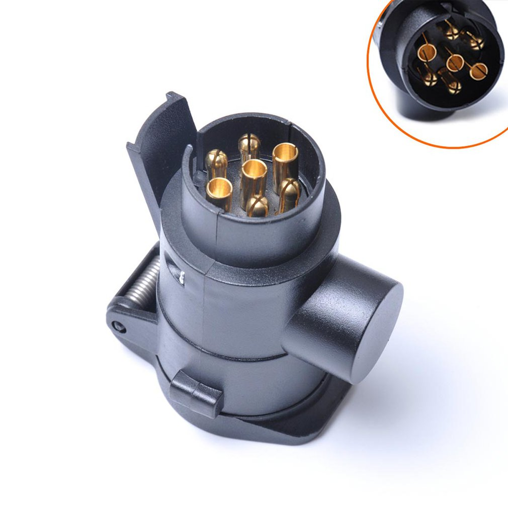 Plug-Adapter Trailer-Connector-Converter-Plug Plastic 7p-To-13p-Power-Socket Car 12V title=