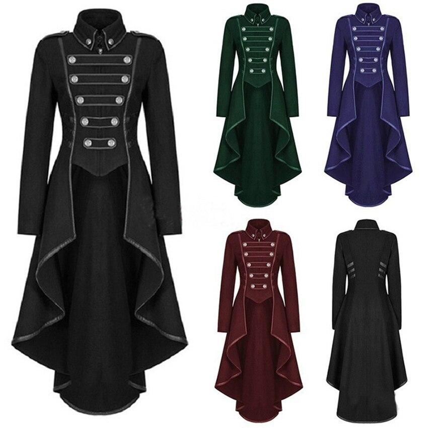 New Medieval Cosplay Femal Lapel Tuxedo with Irregular Hem Retro Clothes Women The Renaissance Women/'s Halloween Party Cos Cloth