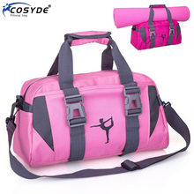 Travel Bags Hand-Luggage-Bag Gym-Bag Yoga-Mat Pink Fitness Workout Waterproof Women Training