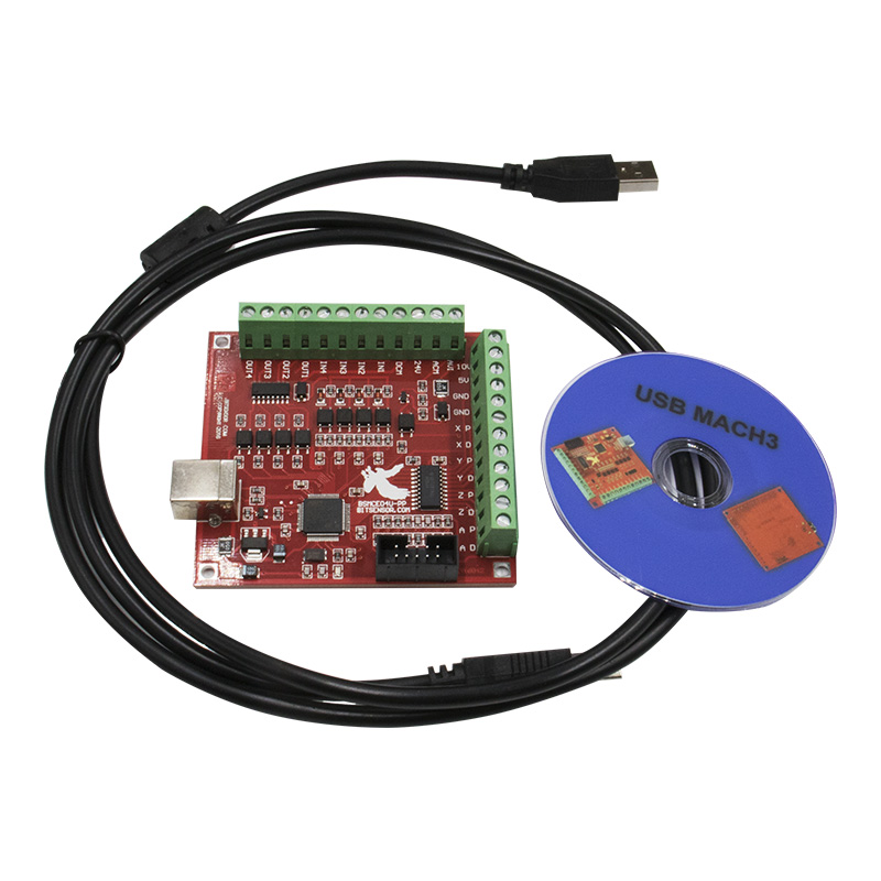 New 4 Axis CNC USB MACH3 100Khz Breakout Board Interface Driver Controller