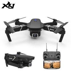 XKJ 2020 Новый E525 WIFI FPV Дрон с широким углом HD 4K 1080P камера высота удержания RC складной Квадрокоптер Дрон подарок игрушка