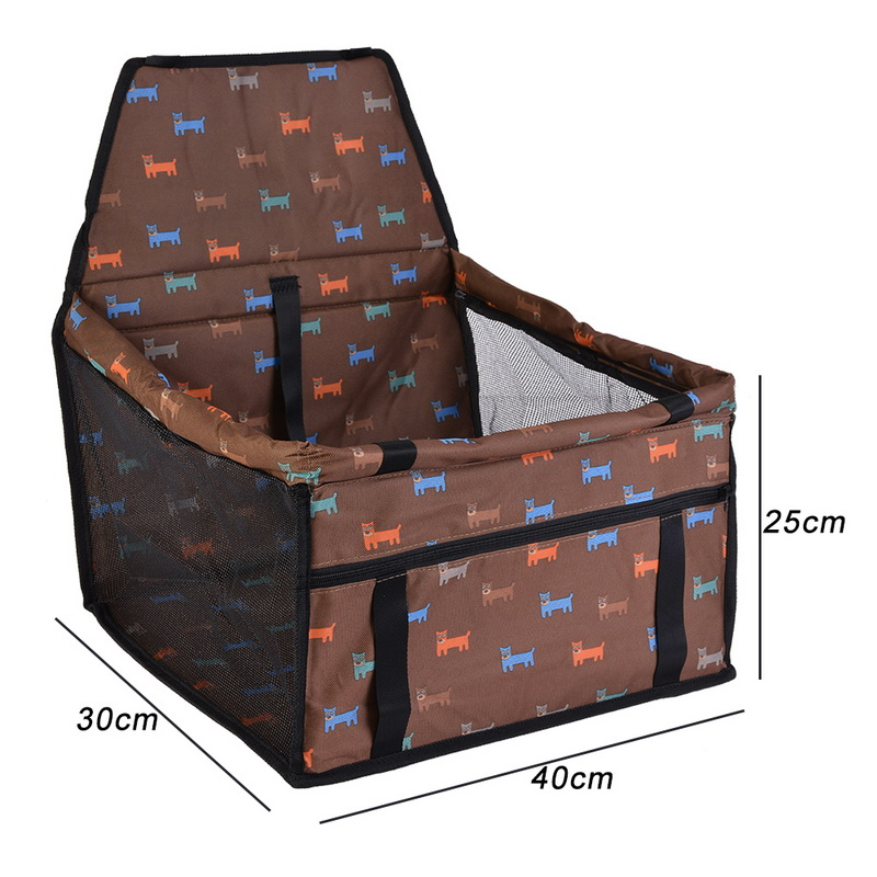 Travel Dog Car Carrier Seat Cover Folding Hammock Pet Carriers Bag Carrying For Dogs Cats Transportin Pet Basket Waterproof 23