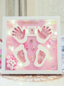 Plasticine Clay Souvenir Handprint Photo-Frame Diy Baby Newborn-Baby Modeling-Clay Slime